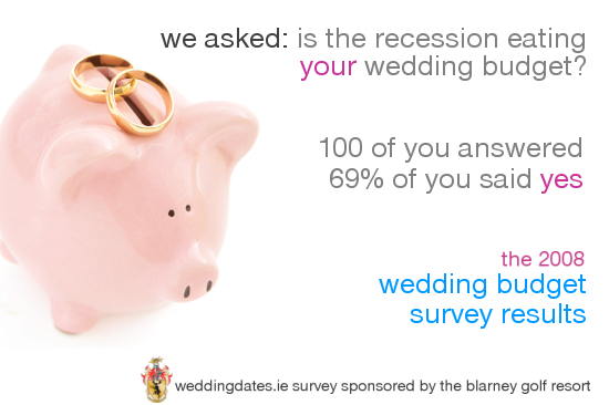 WeddingDates.ie 2008 Wedding Budget Survey Results