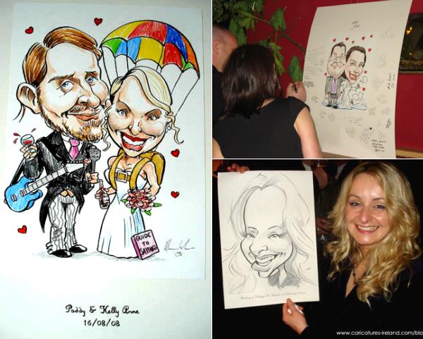 Wedding Caricatures from Caricatures Ireland