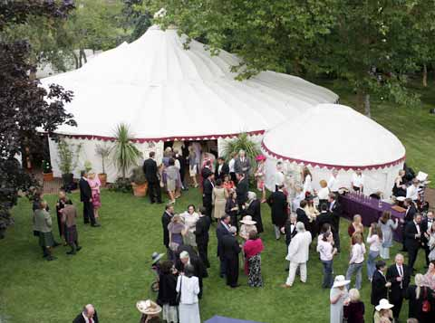 Summer Sun required for a Tented Wedding!