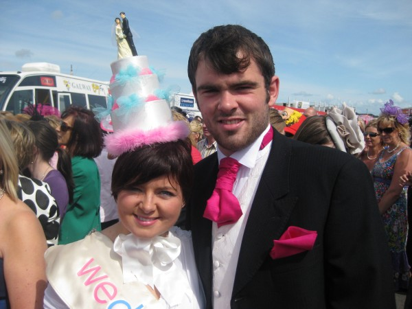 WeddingDates.ie Team and the wedding cake hat!