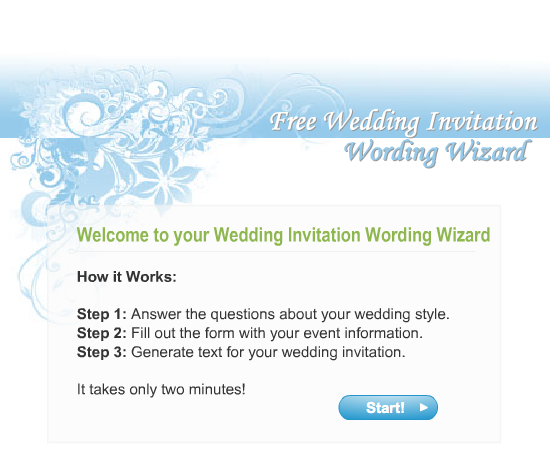 Wording those invites…