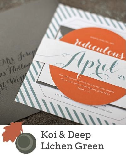 green autumn wedding trends 2013 booklet