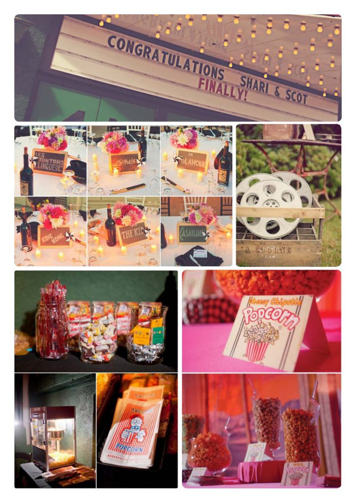 quirky movie wedding theme