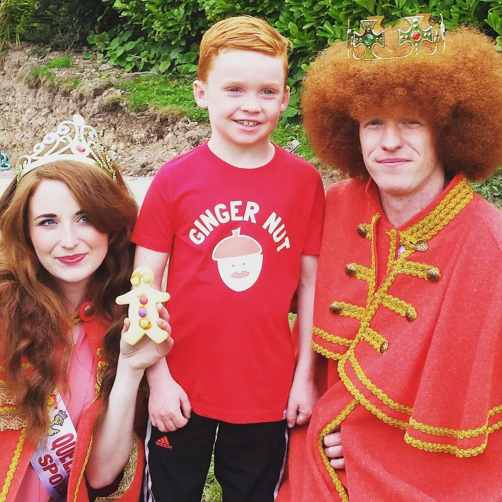 Newly-crowned Redhead Queen & King