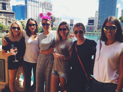 With Her Baes In Vegas