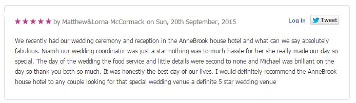 Wedding Reviews