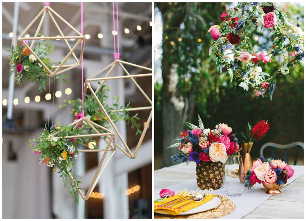 Geometric Hanging Flowers