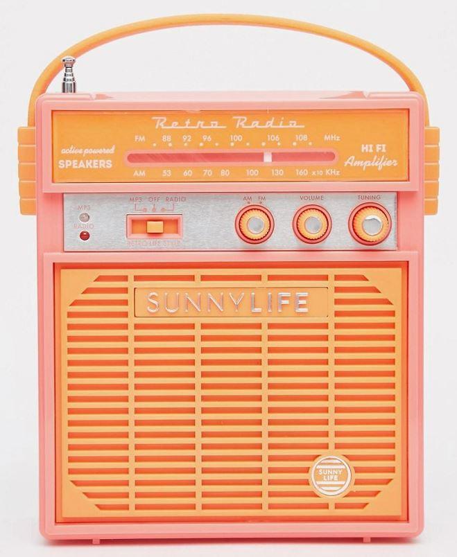 Sunnylife Retro Sounds Radio - ASOS, €34.51