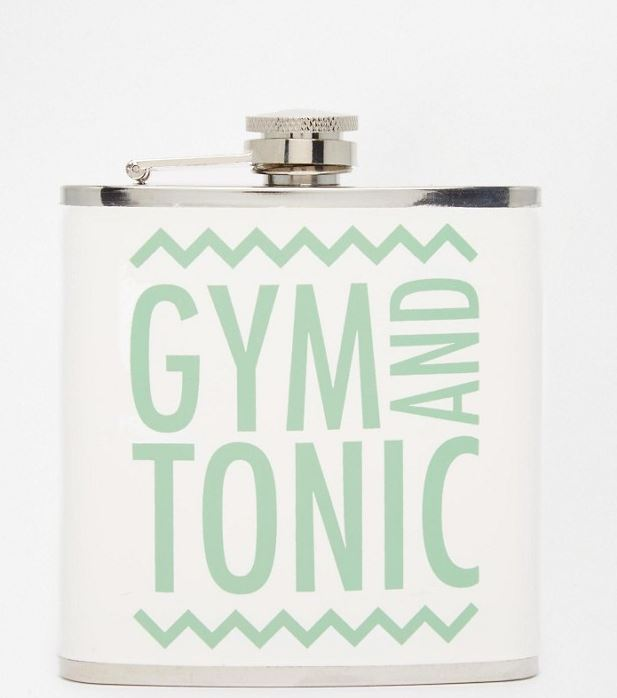 Paperchase Gym & Tonic Hip Flask - ASOS, €14.08