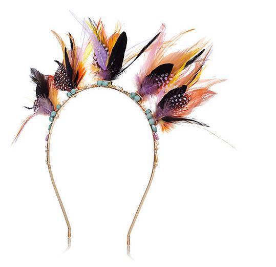 Yellow Feather Headband - River Island, €17.00