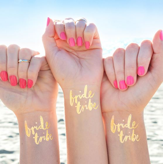 Bride Tribe Gold Hen Party Temporary Tattoos - Hippenings, €30.00