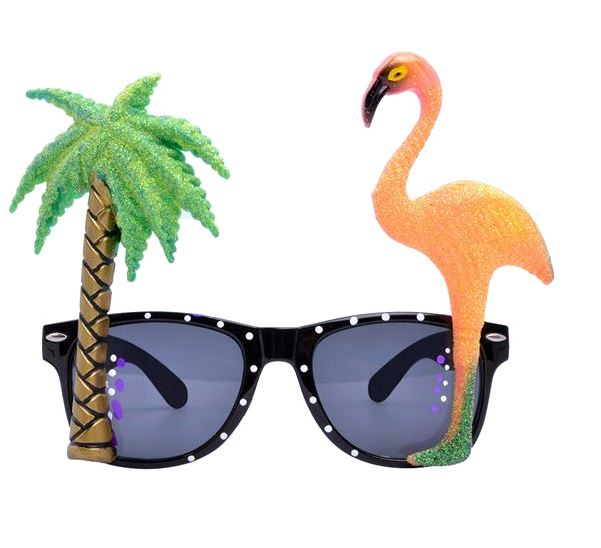 Palm Tree & Flamingo Sunglasses - The Peacock Bride, €3.50