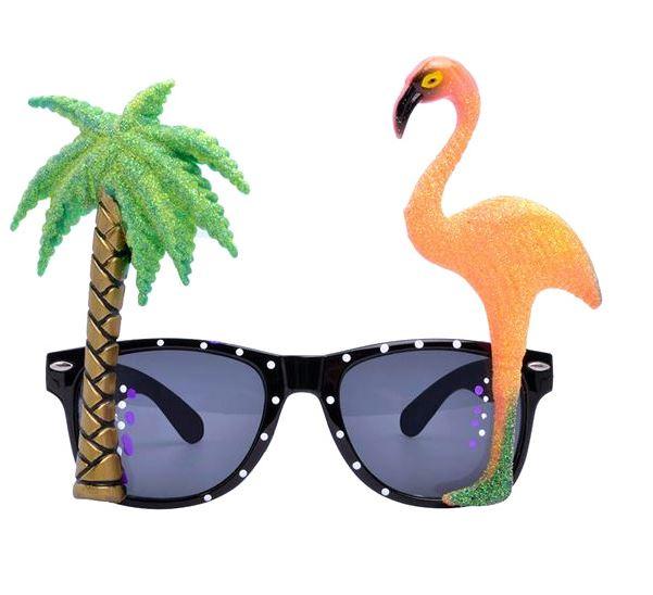 Palm Tree & Flamingo Sunglasses - The Peacock Bride, €3.50