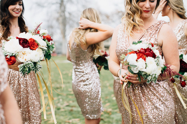 Glitter Bridesmaid Gowns