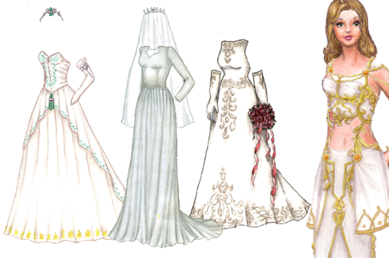 Humungous wedding dress