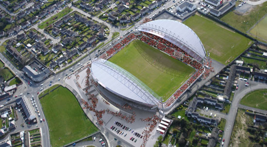 The new Thomond Park Stadium
