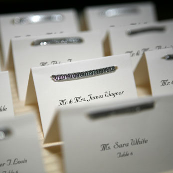 One way to personalize your wedding is by creating bespoke place cards that