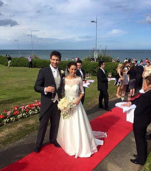 Rugby Star Weds Girlfriend