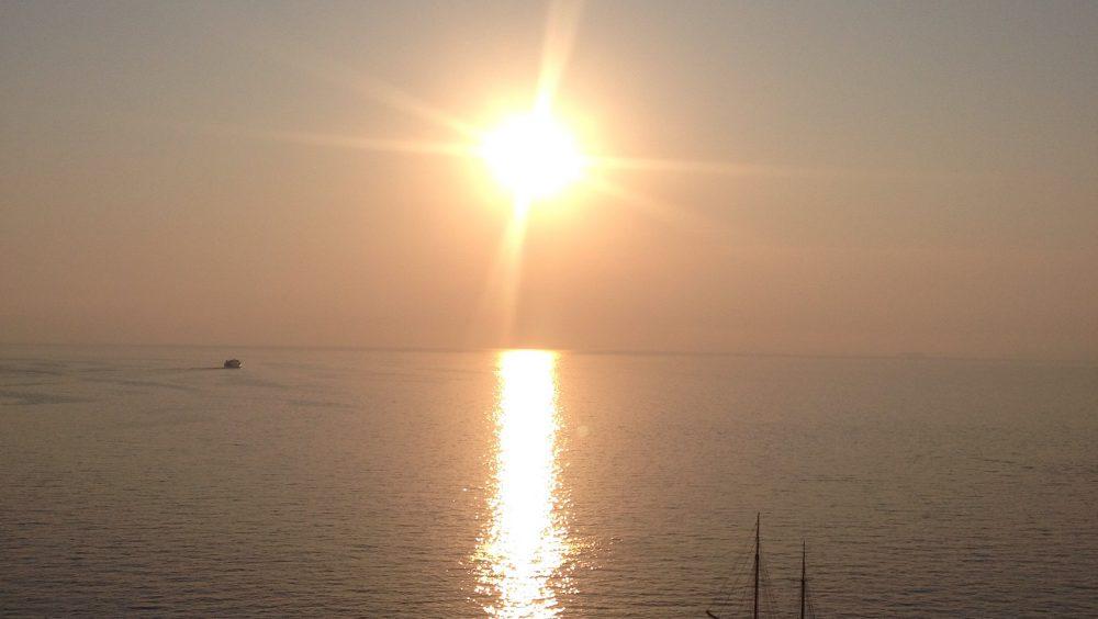 A Stunning Sunset on The Amalfi Coast