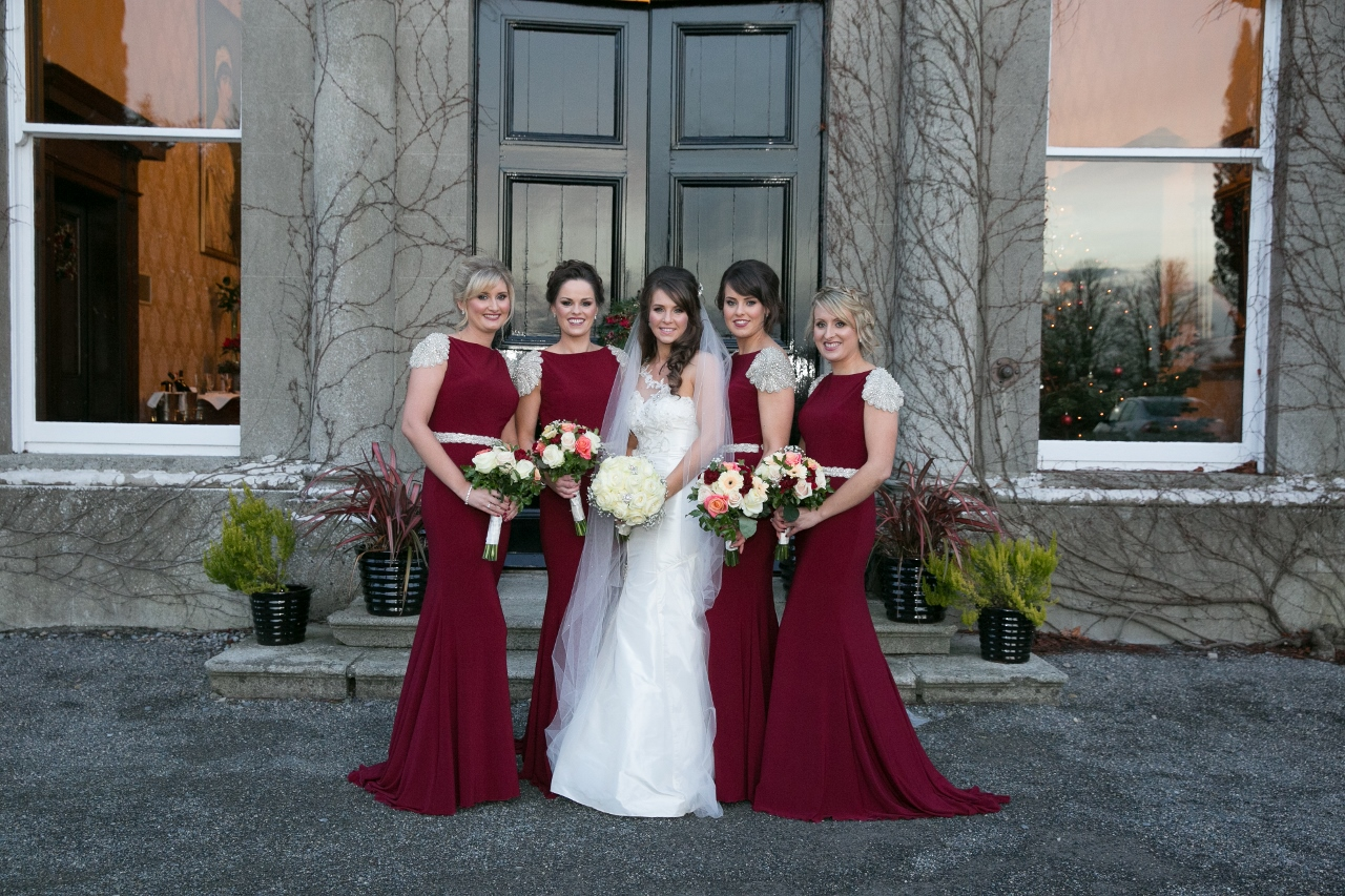Rich Burgundy: Aileen & John's Sparkly Winter Wedding