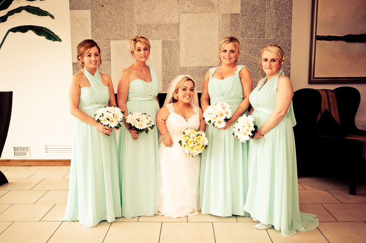 Tricia + Sean's Sweet Mint & Fresh Flower Daisy Wedding