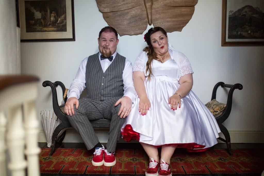 Breaking Rules: Andy + Eibhlín's Retro Garden Wedding