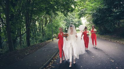 The Fashion-Forward Bride: Mary T + Genie's Trendsetting Wedding