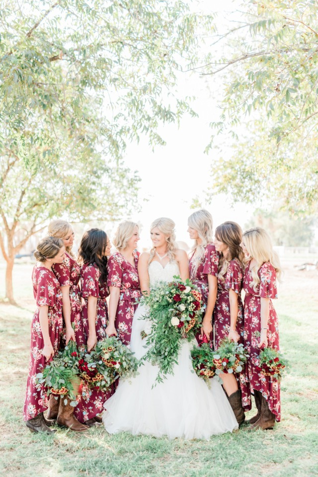 Floral Bridesmaid Dresses - Trisha Shelley Photography