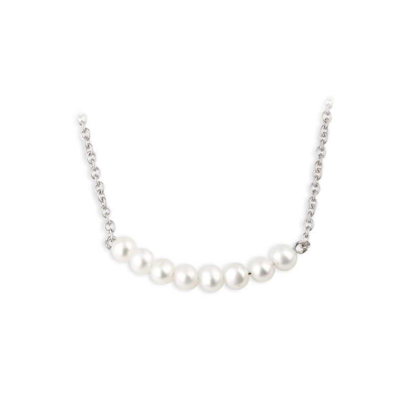 PCJ Aurora Collection Sterling silver necklet, fresh water pearls set on a delicate chain €130