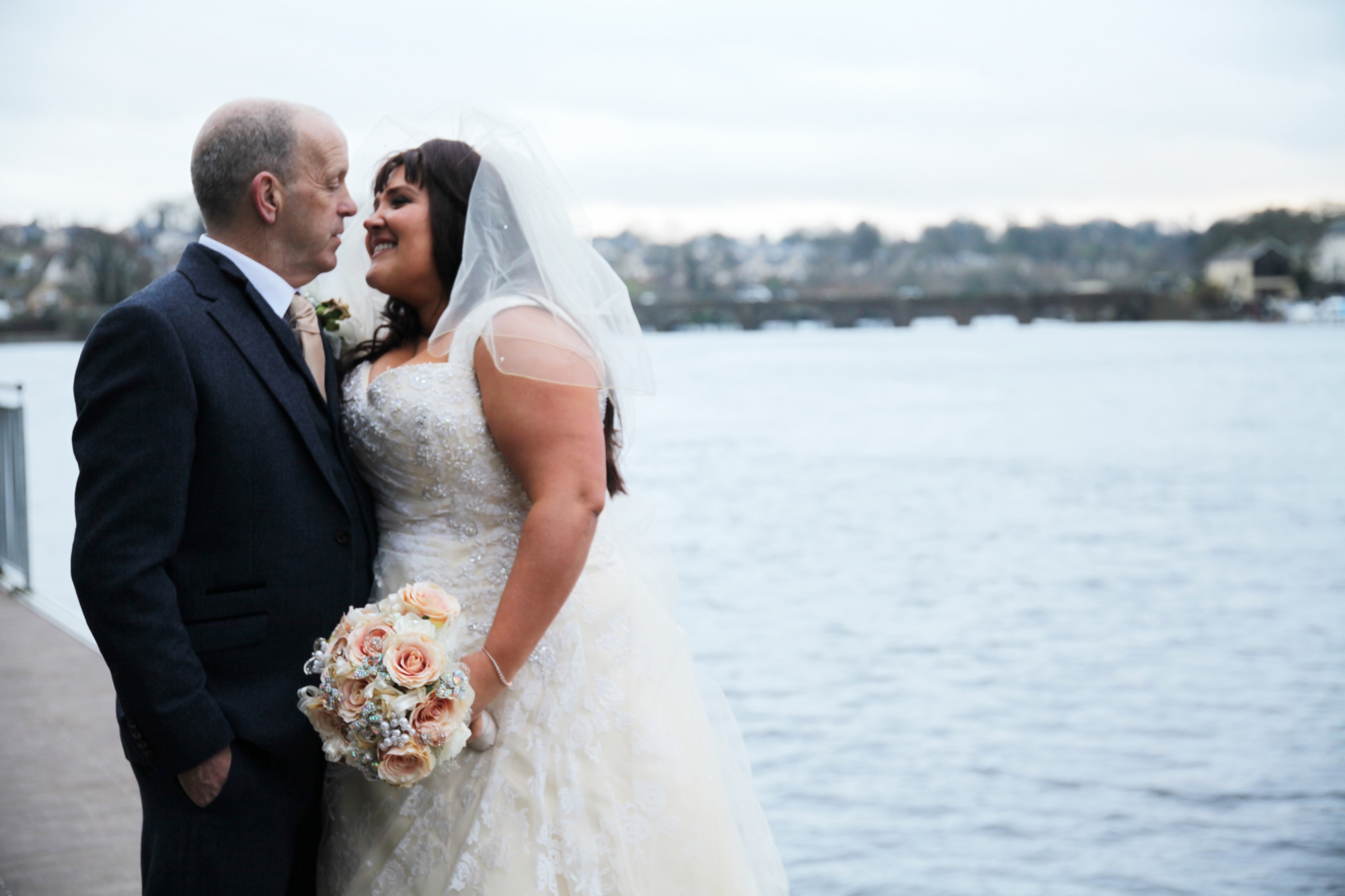 Love, Laughter & Snowfall: Michelle + Danny at The Lakeside Hotel