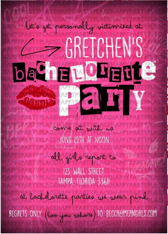 mean girls invite