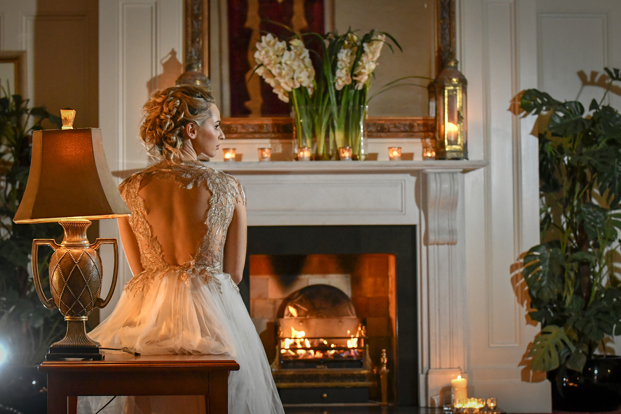 Bride sitting down facing fireplace - to be edited (1)-min